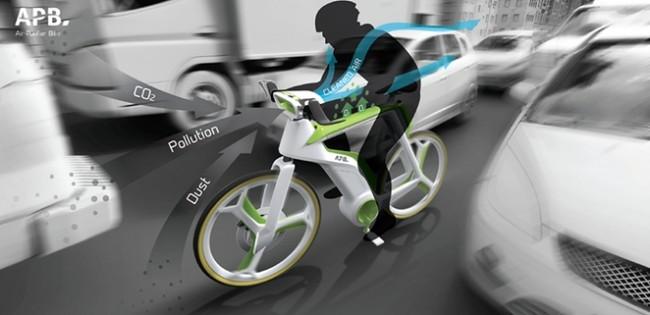 Від вуличного смогу врятує велосипед-фільтр