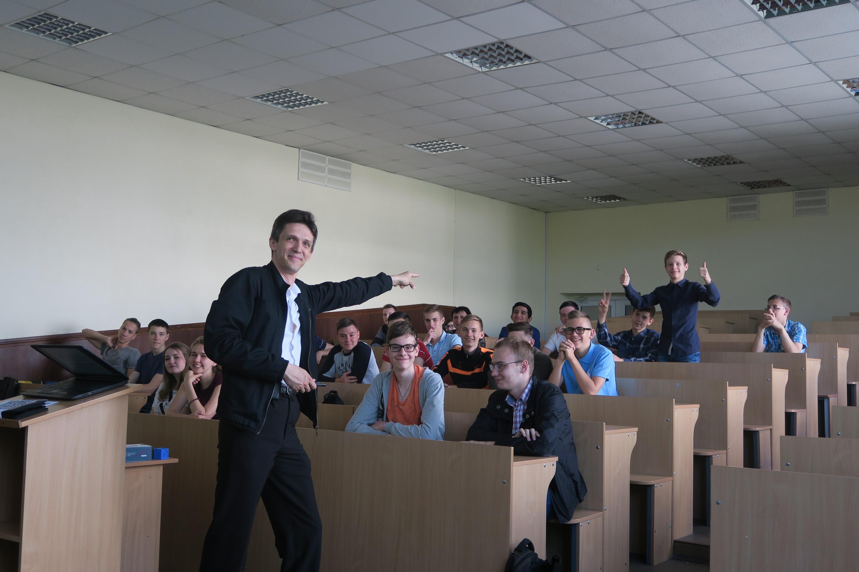 Майстер-клас для школярів на дні відкритих дверей